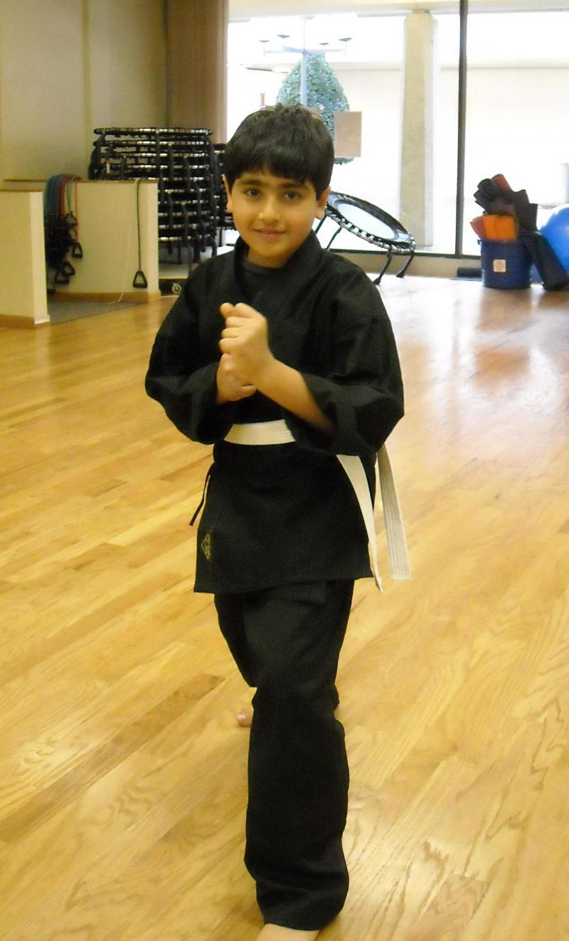 Kian Received his White Belt, February 20, 2012